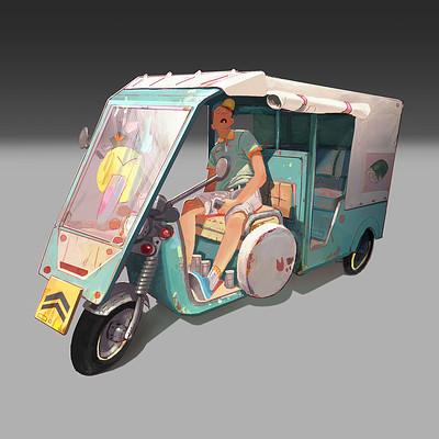 Daniel fadness daniel fadness rickshaw painting4