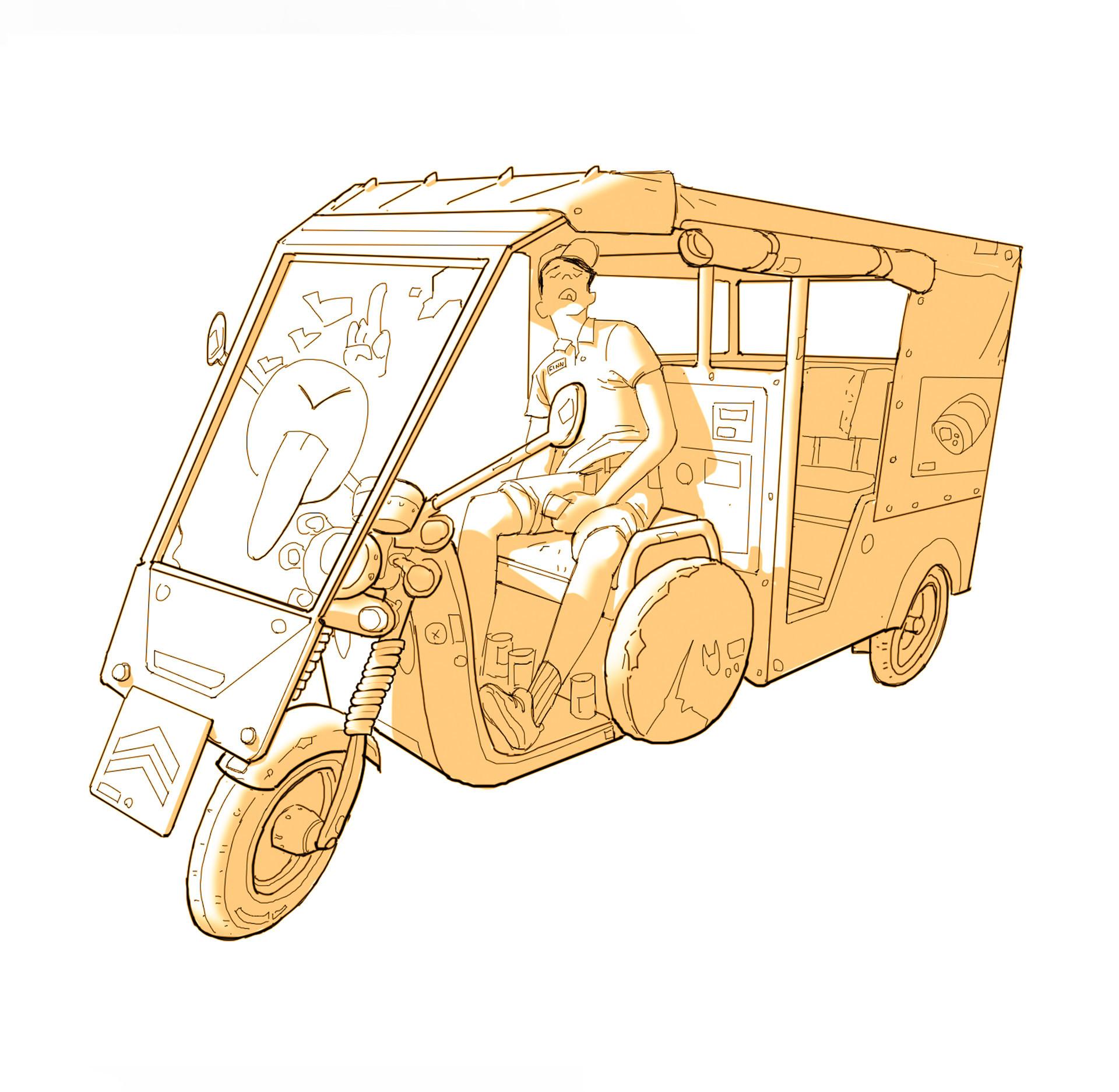 Daniel fadness daniel fadness rickshaw painting3