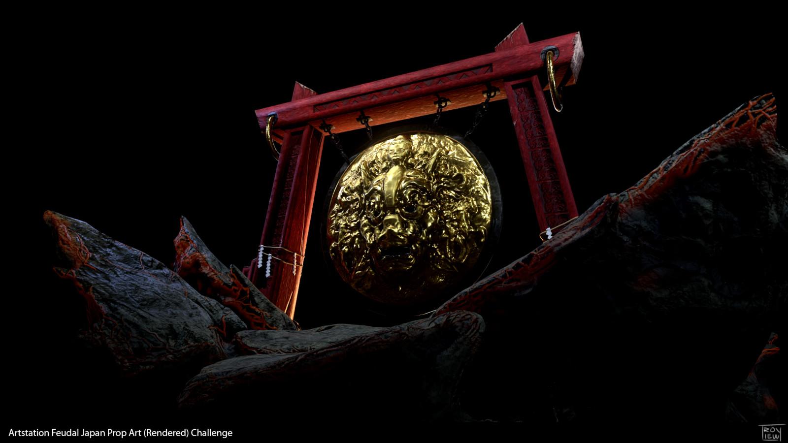 Oni Gong - Feudal Japan Prop Art Challenge