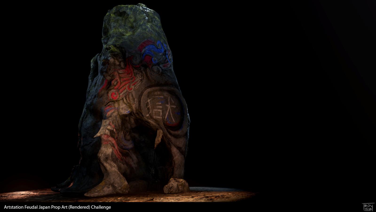 Oni Boulder - Feudal Japan Prop Art Challenge