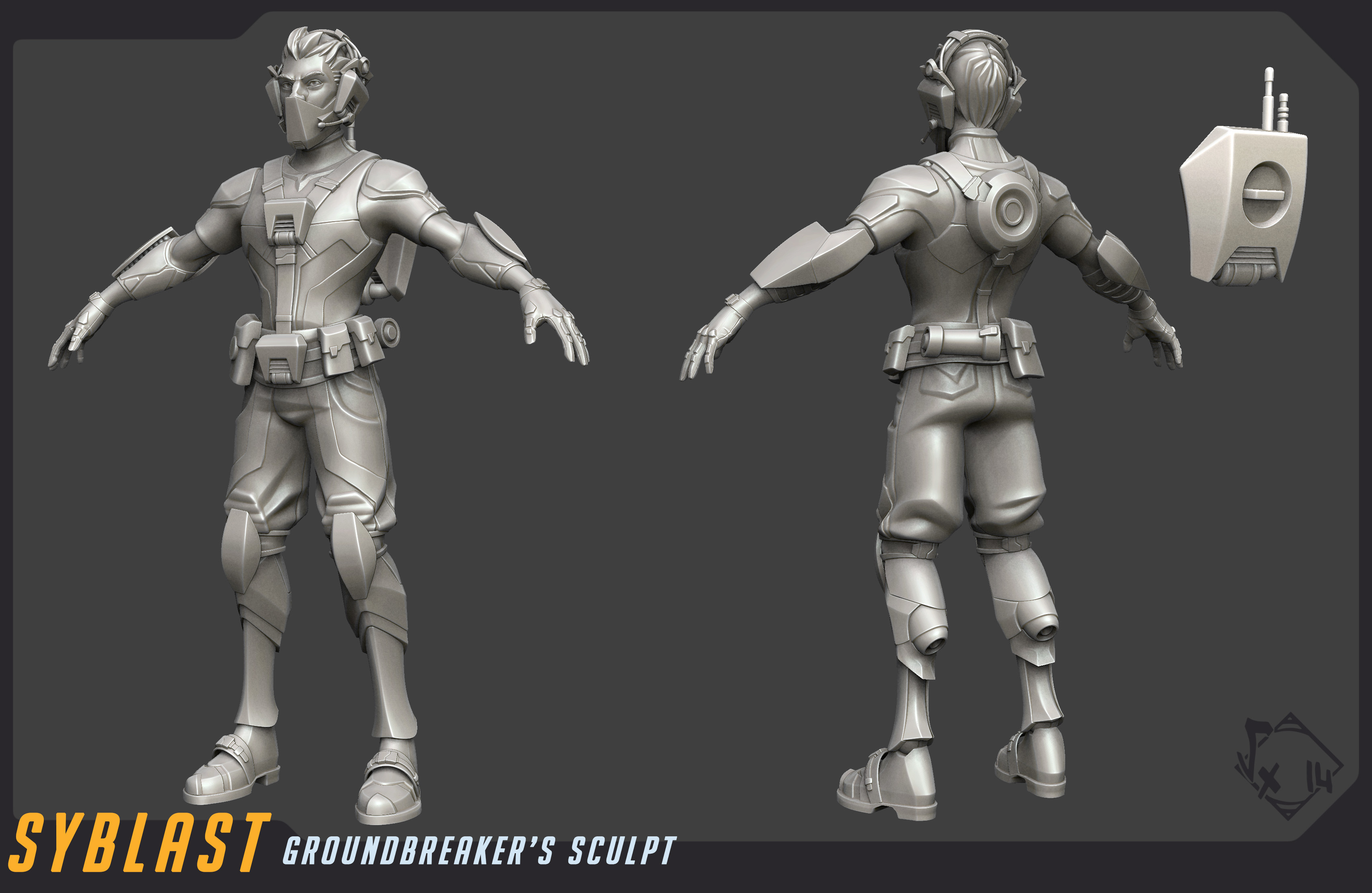 Sculpt done with ZBrush and partialy 3dsmax ( for hardsurface parts )