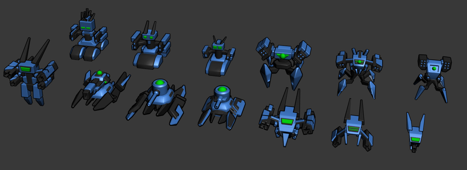 Stylized vehicles/Mechs