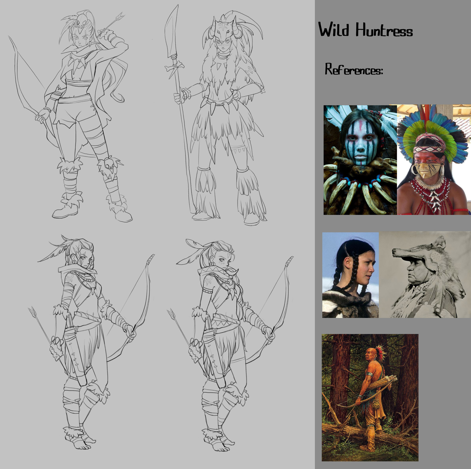 Cherlin mao charactersconcept huntress 4hours