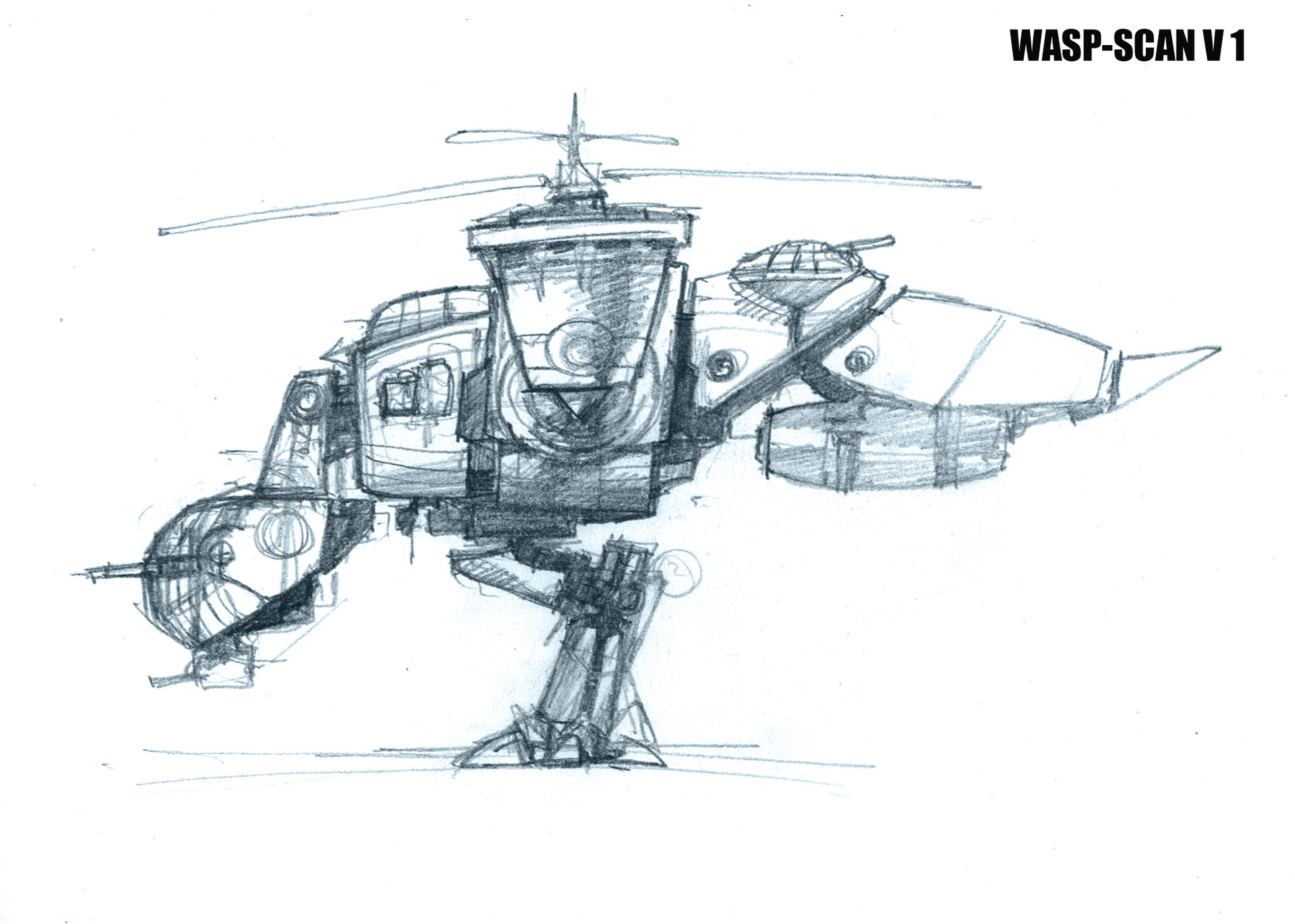 Wasp Scan Battle Ship concept 2