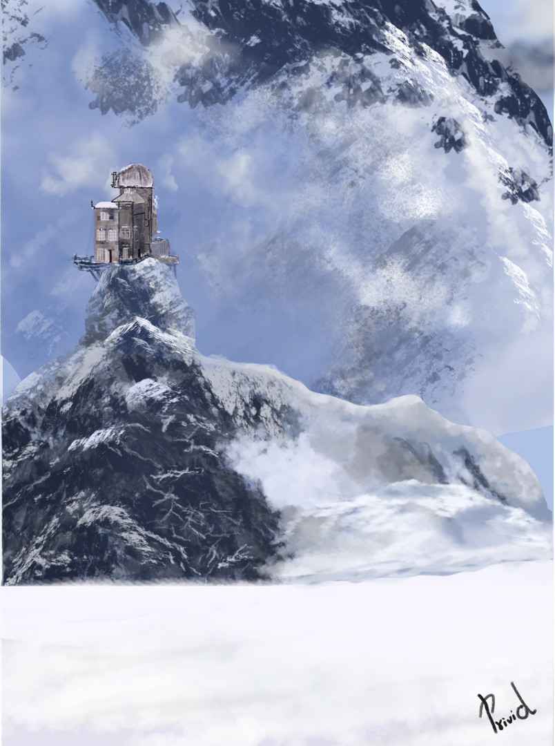 ArtStation - Digital painting of sphinx observatory in