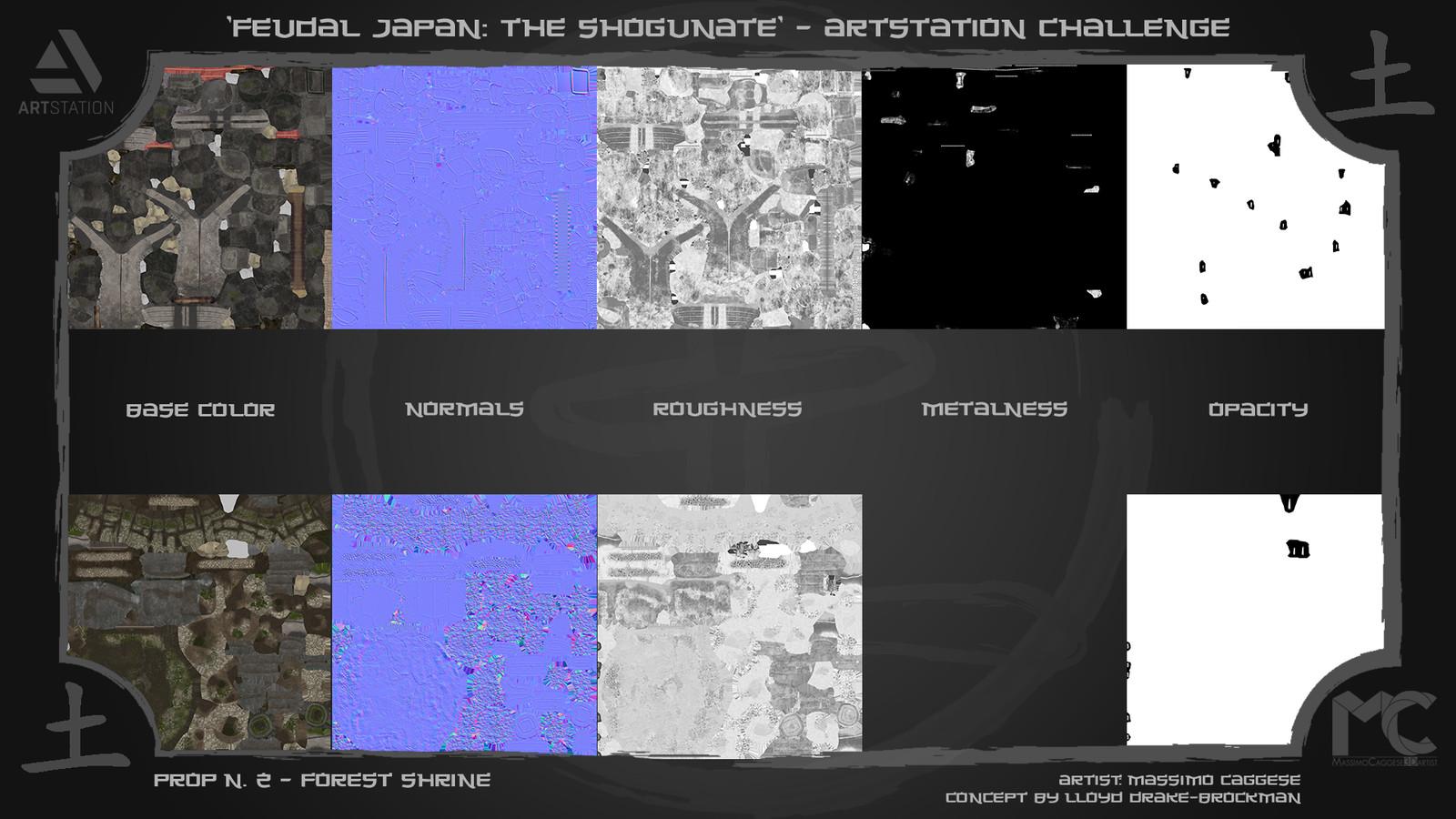 Texture set maps (4k).