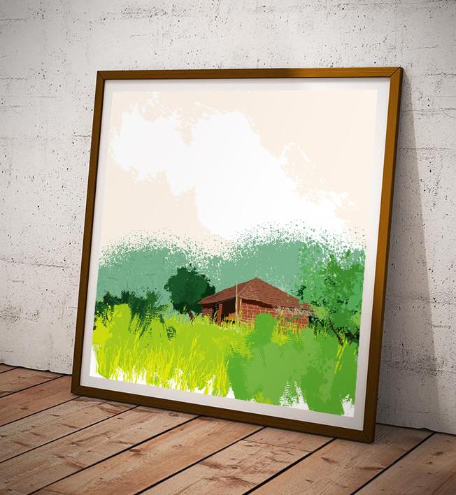 Rajesh r sawant square poster frame mockup splatter hs