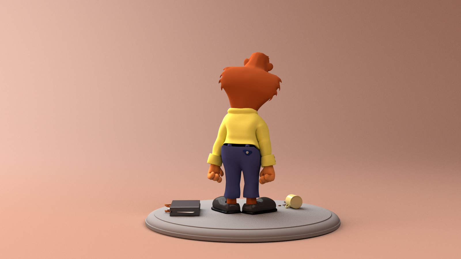 The Working Man, 3D model, back