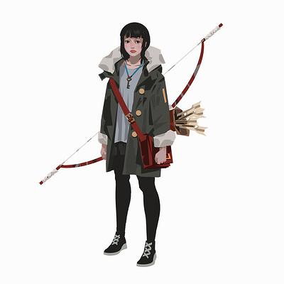 Yun ling girl wintercoat