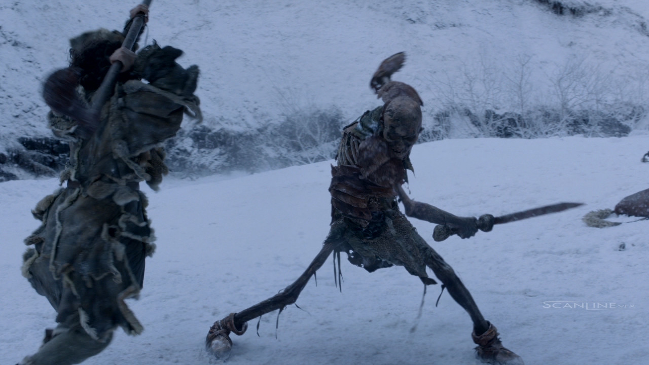 Compositing and integration work for Game of Thrones Season 5. Work done at Scanline VFX with a team of 3D artists. Software used: Nuke.  Full CG Character, 2D Snow Enhancement, Plate Integration.