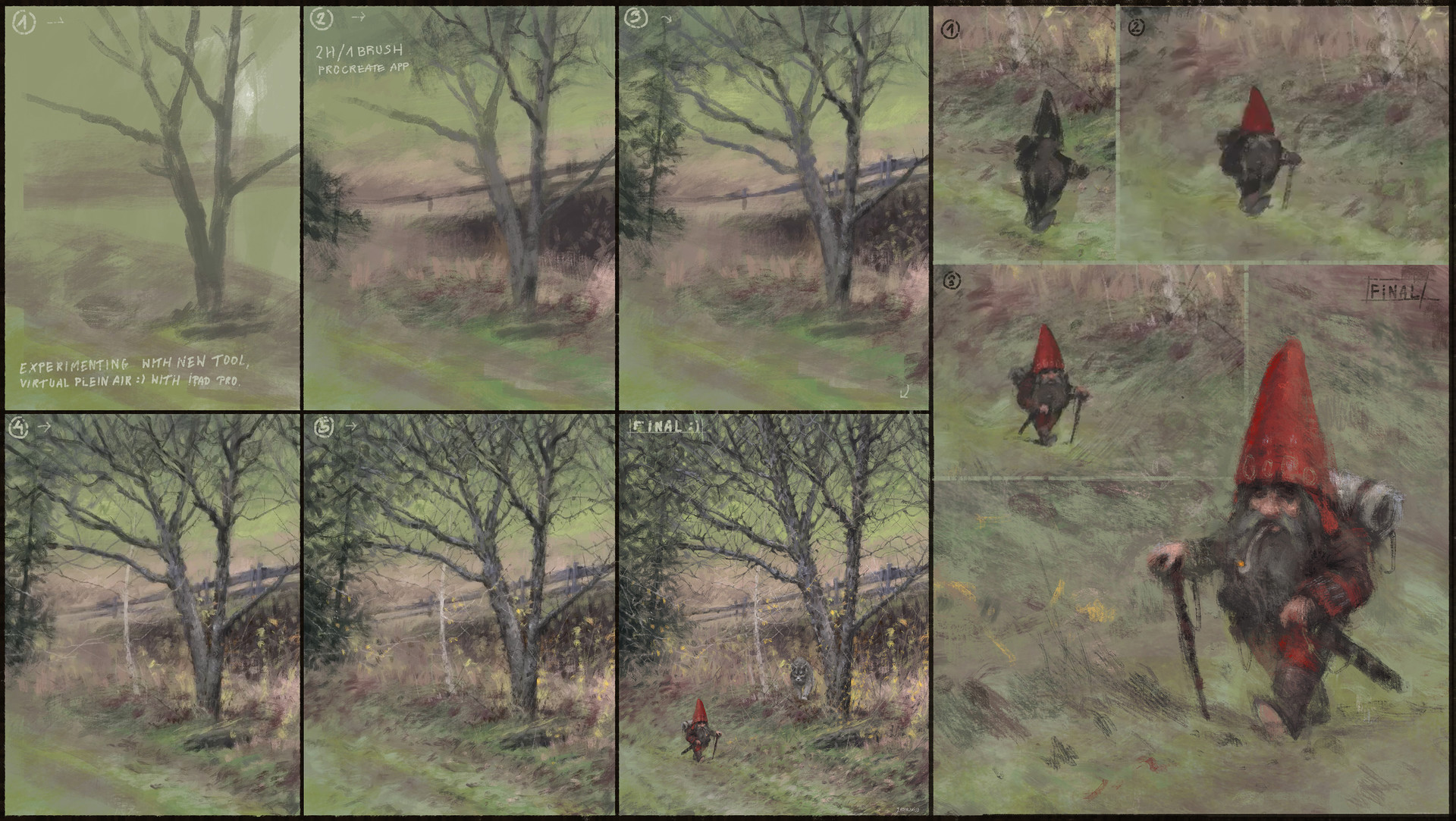 Jakub rozalski work process01