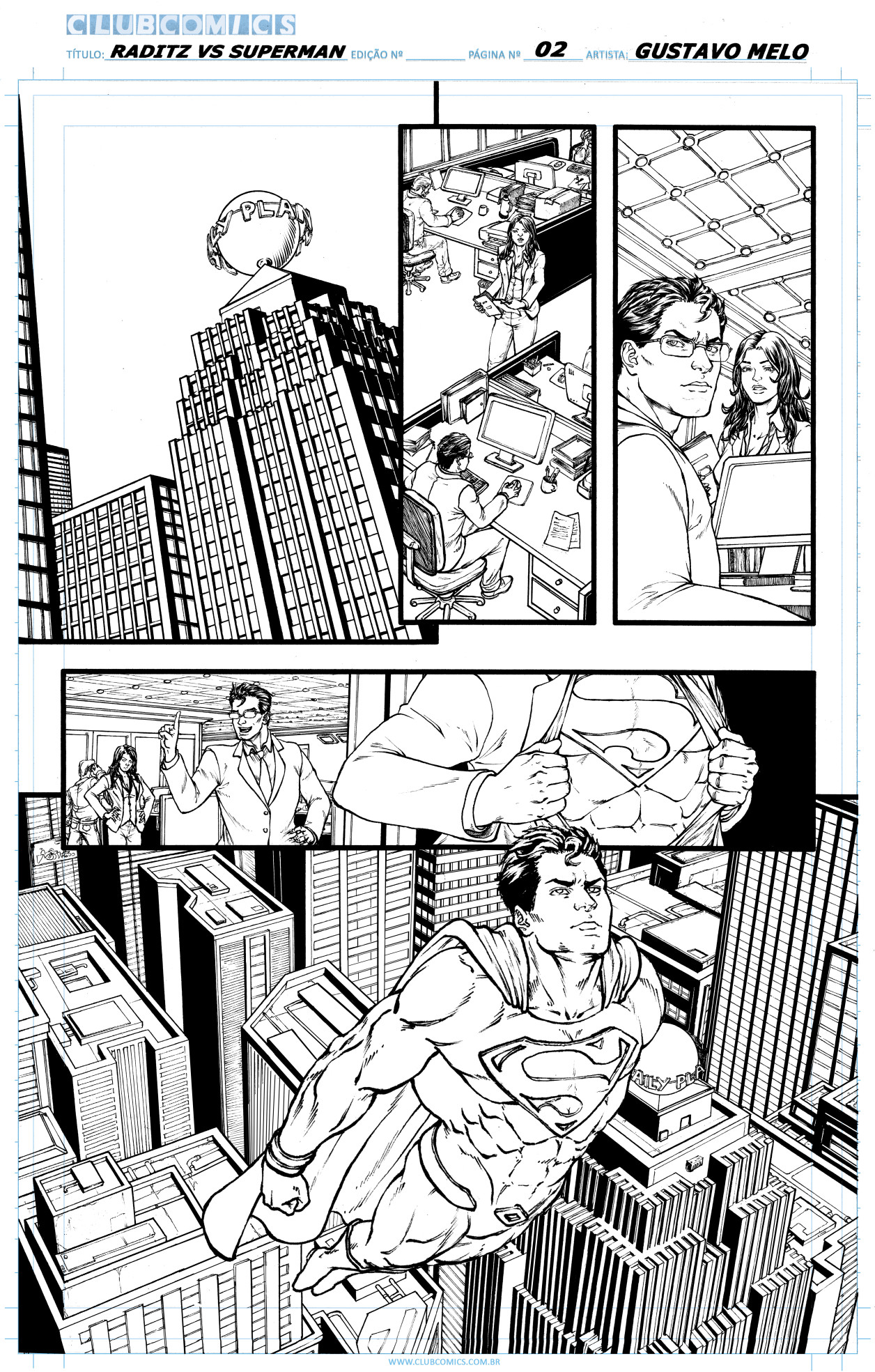 Gustavo melo raditz vs superman page 02 sample low