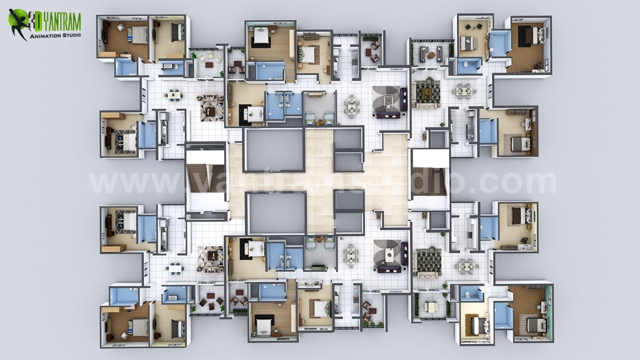 Artstation Creative Virtual Floor Plan Apartment Developed By Architectural Studio Melbourne Australia Yantram Architectural Design Studio