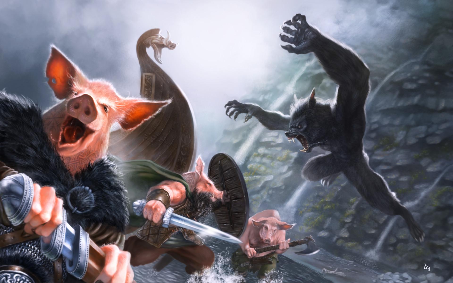 Loic canavaggia les 3 petits cochons vikings