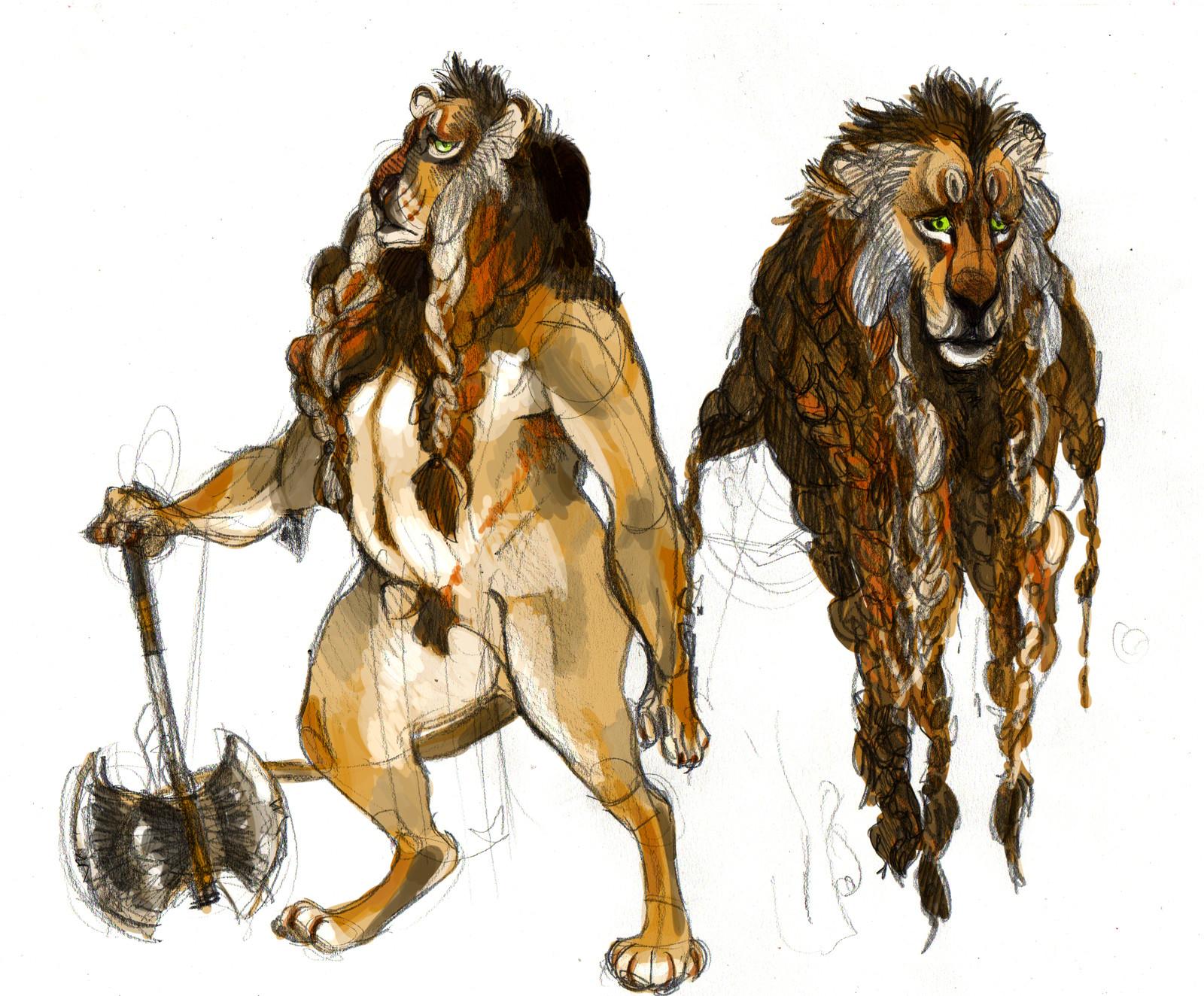 study: lion axman