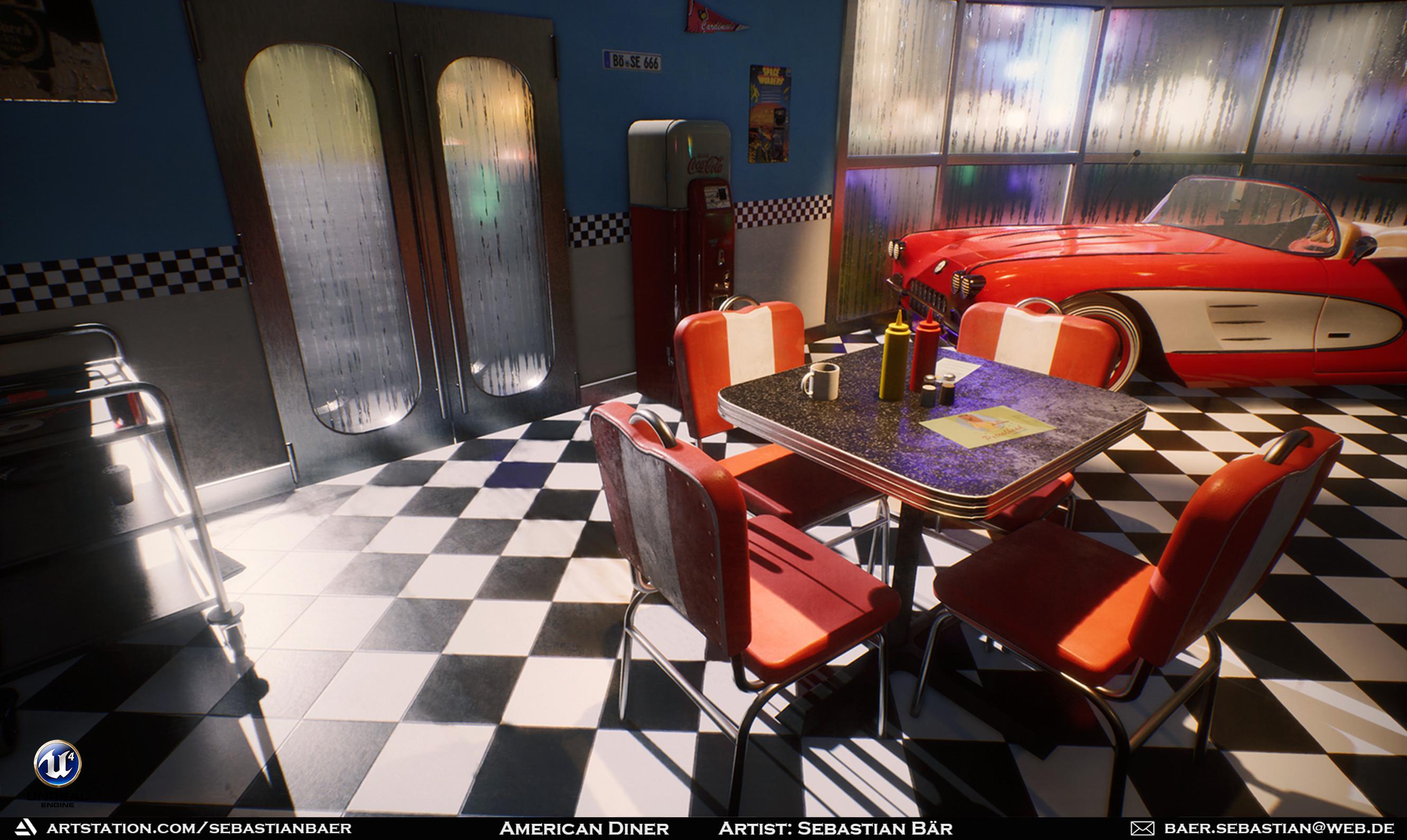 Sebastian Bar American Diner Ue4