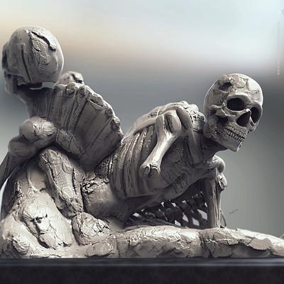 Surajit sen bones concept sculpt by surajitsen dec2018