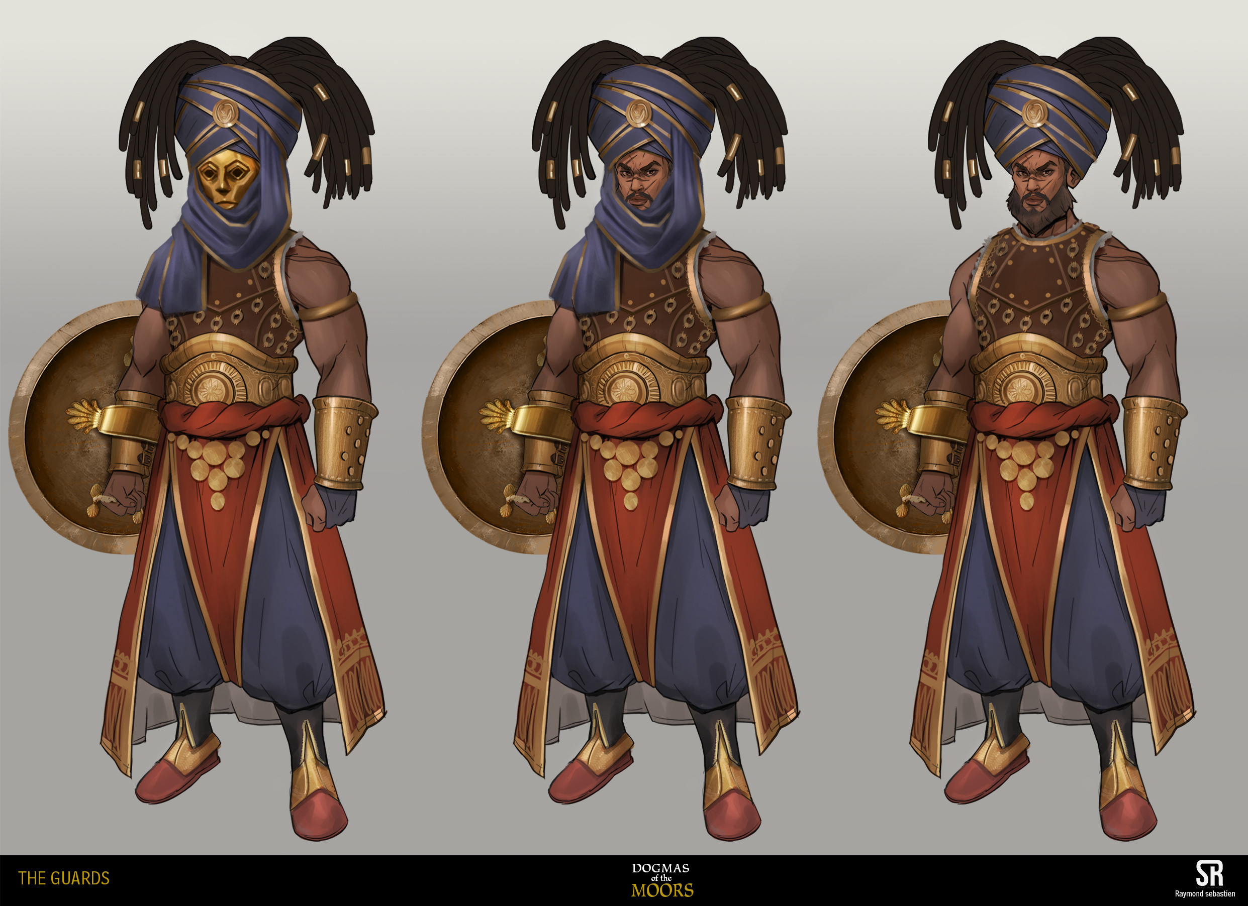turban and golden mask