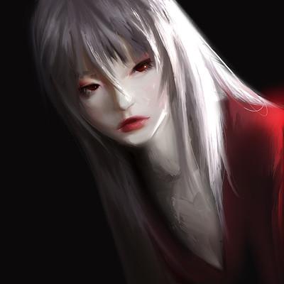 Deborah ouelle red in black