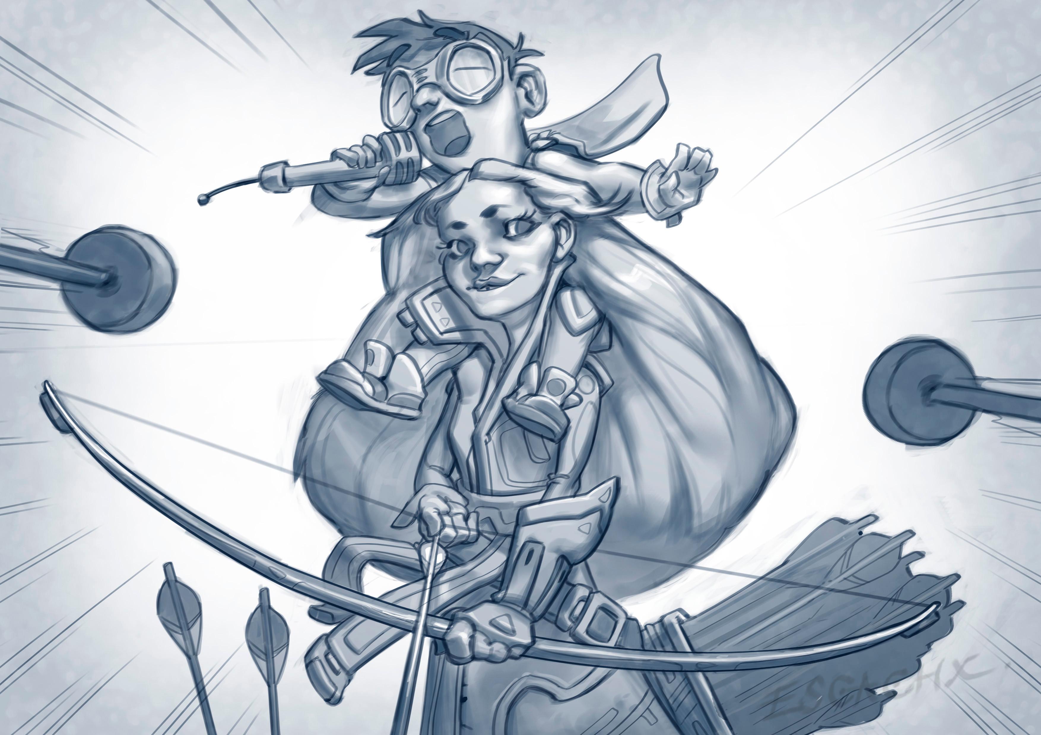 """Archery"" sketch"