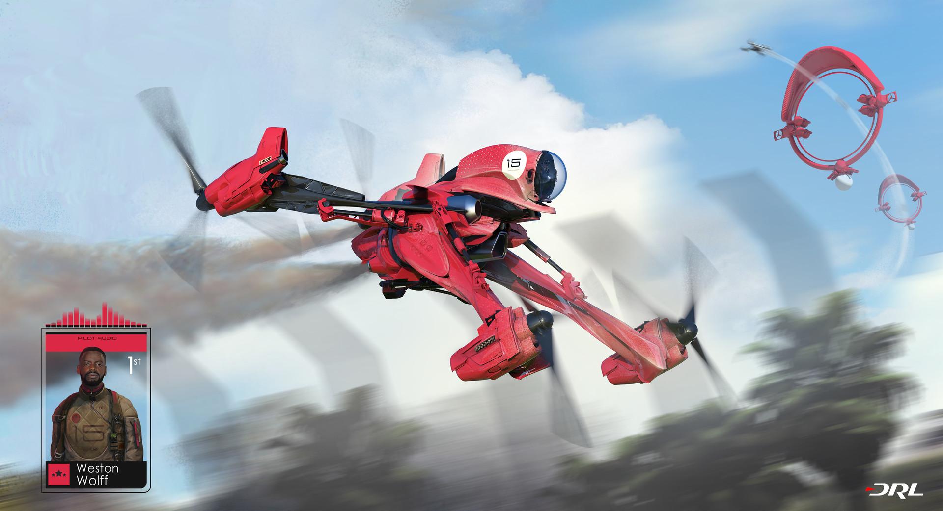 Weston's Racing Drone.