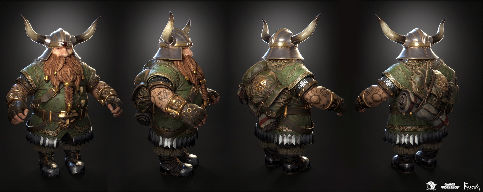 Bardin is one of the ever-bickering ensamble of ragtag heroes that fight against the hordes of the rat-like Skaven and their sinister allies from the Chaos faction.
