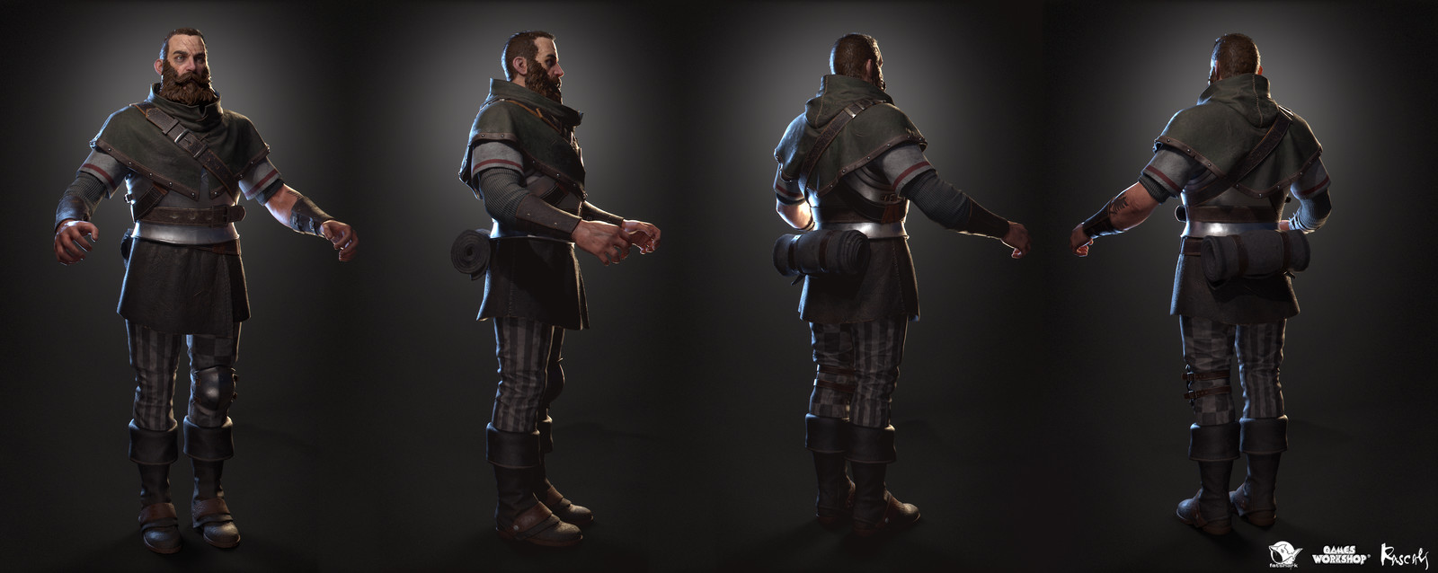 Kruber is one of the ever-bickering ensamble of ragtag heroes that fight against the hordes of the rat-like Skaven and their sinister allies from the Chaos faction.