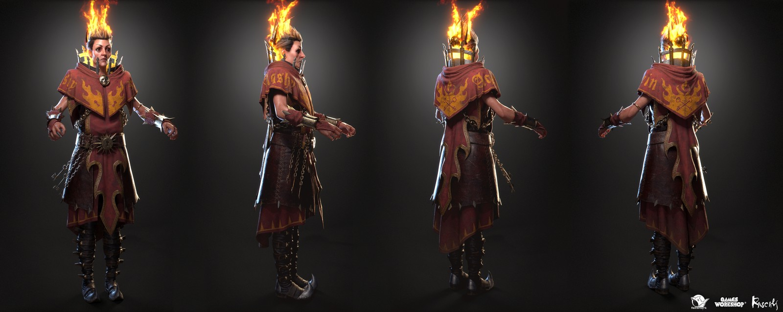 Sienna is one of the playable hero variants Rascals made for Warhammer: Vermintide II, Fatshark's award-winning co-op meelee action published by Games Workshop.