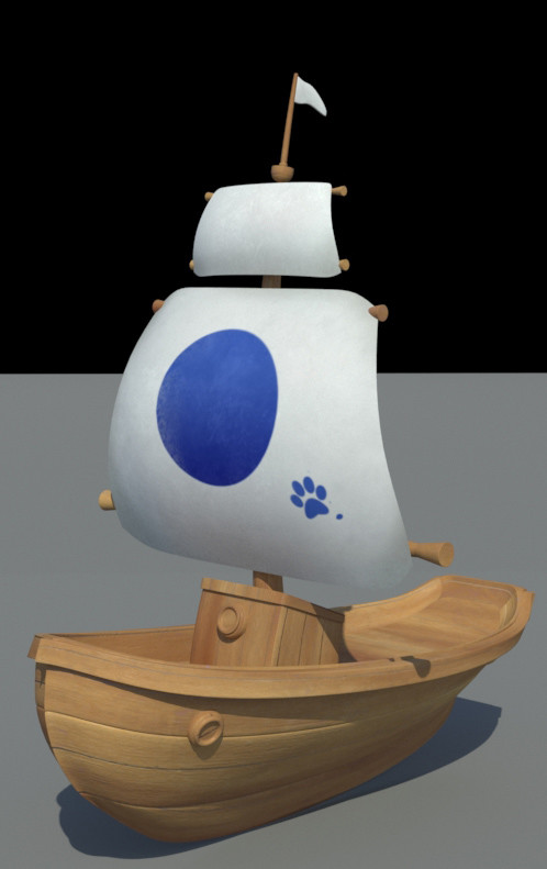 Texturing and shading. Model provided by Hampa Studio