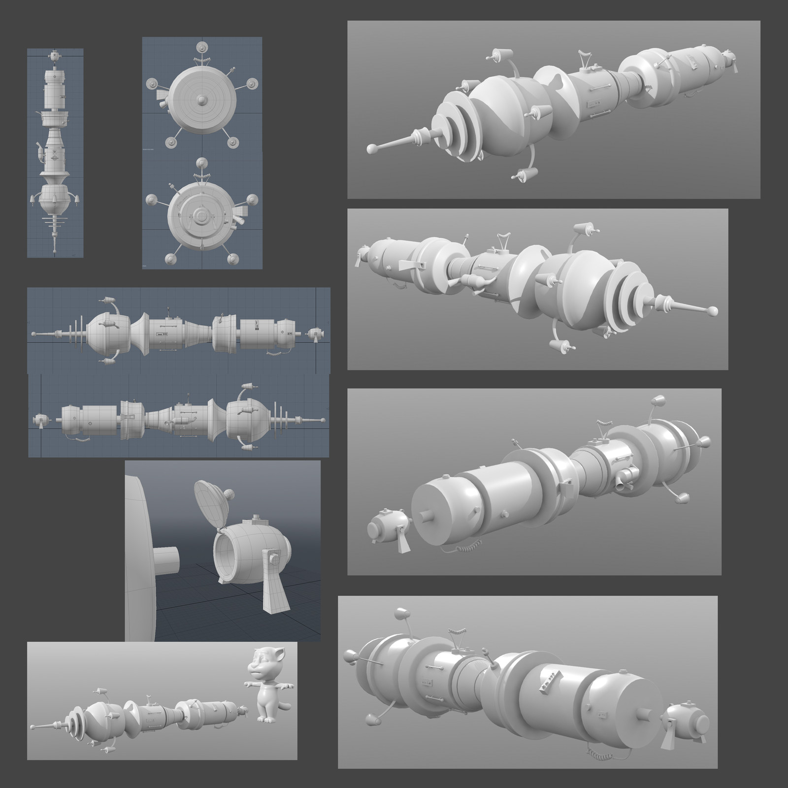 Concept, model, shading and texturing. Tom and ships models provided by Hampa Studio
