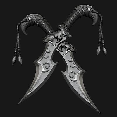 Fantasy Blade - High poly
