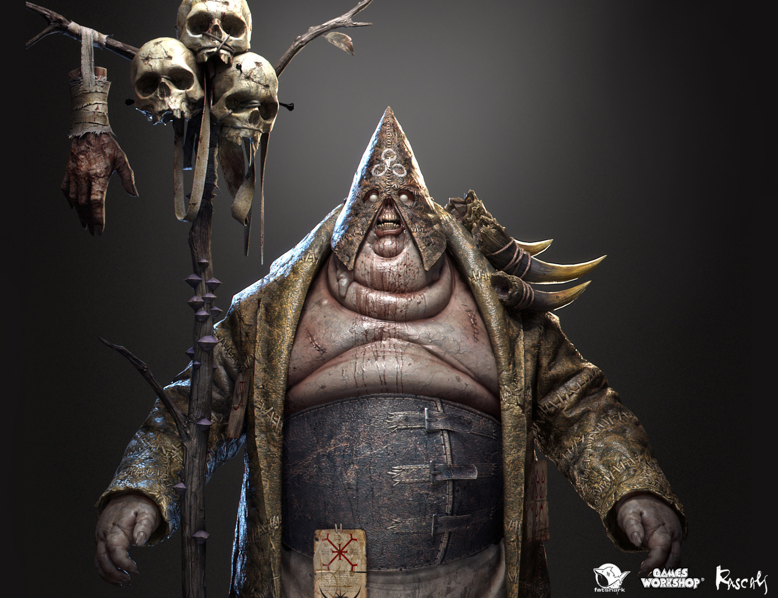 Among the NPC and enemy characters Rascals created for Warhammer Vermintide II, Chaos Sorcerer stands among our favourites.