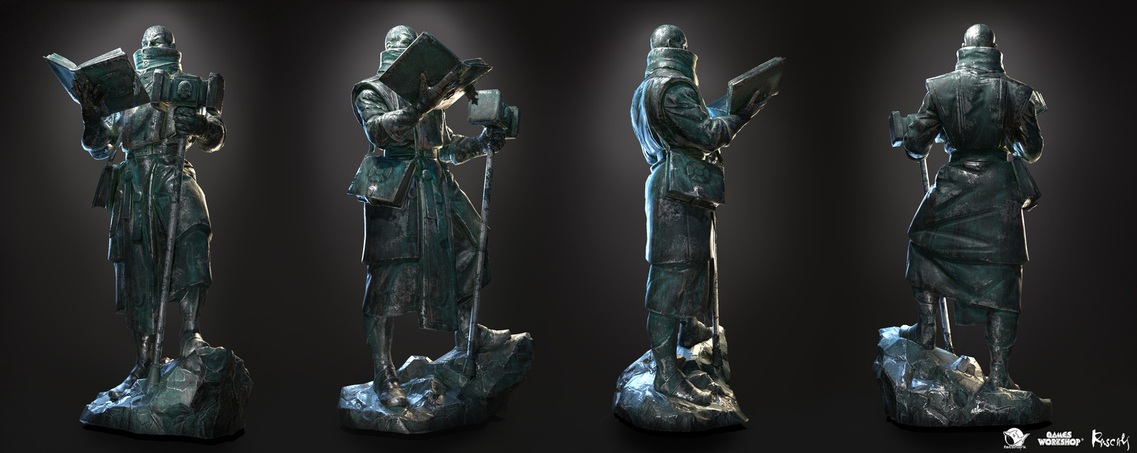 The statues have PBR textures and 10K polys in average.