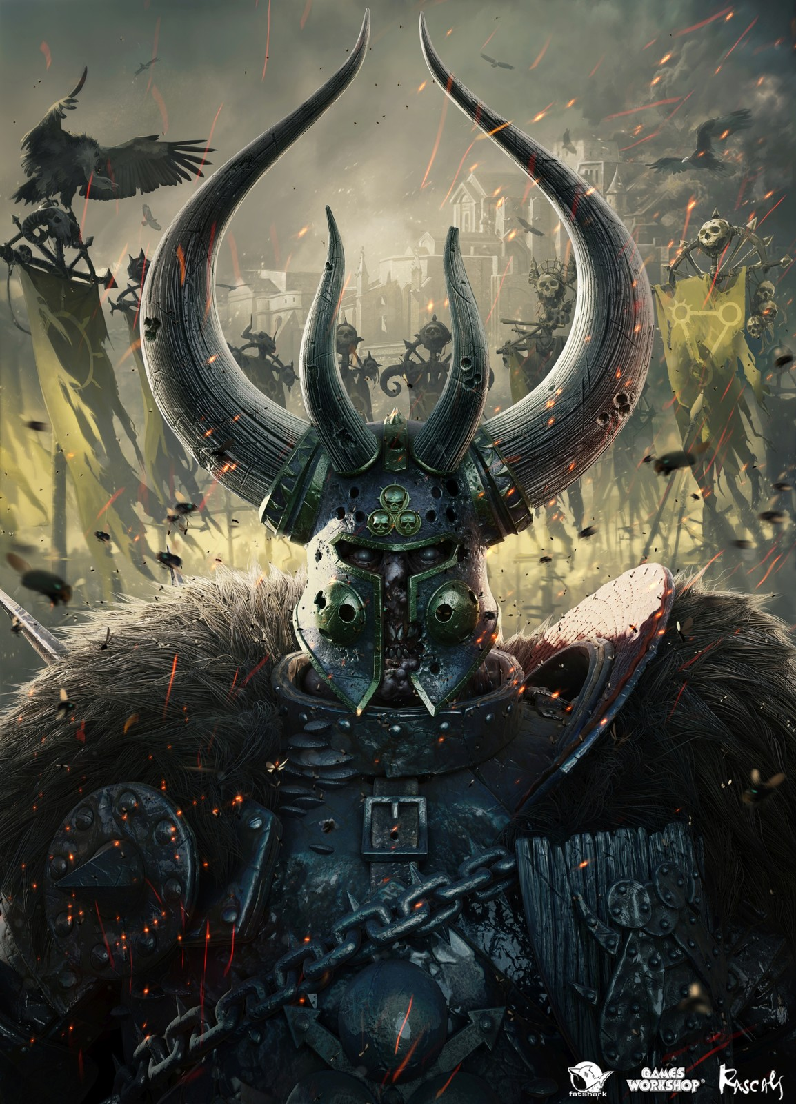 Box art for Warhammer: Vermintide II, one of the marketing assets we made for the game.