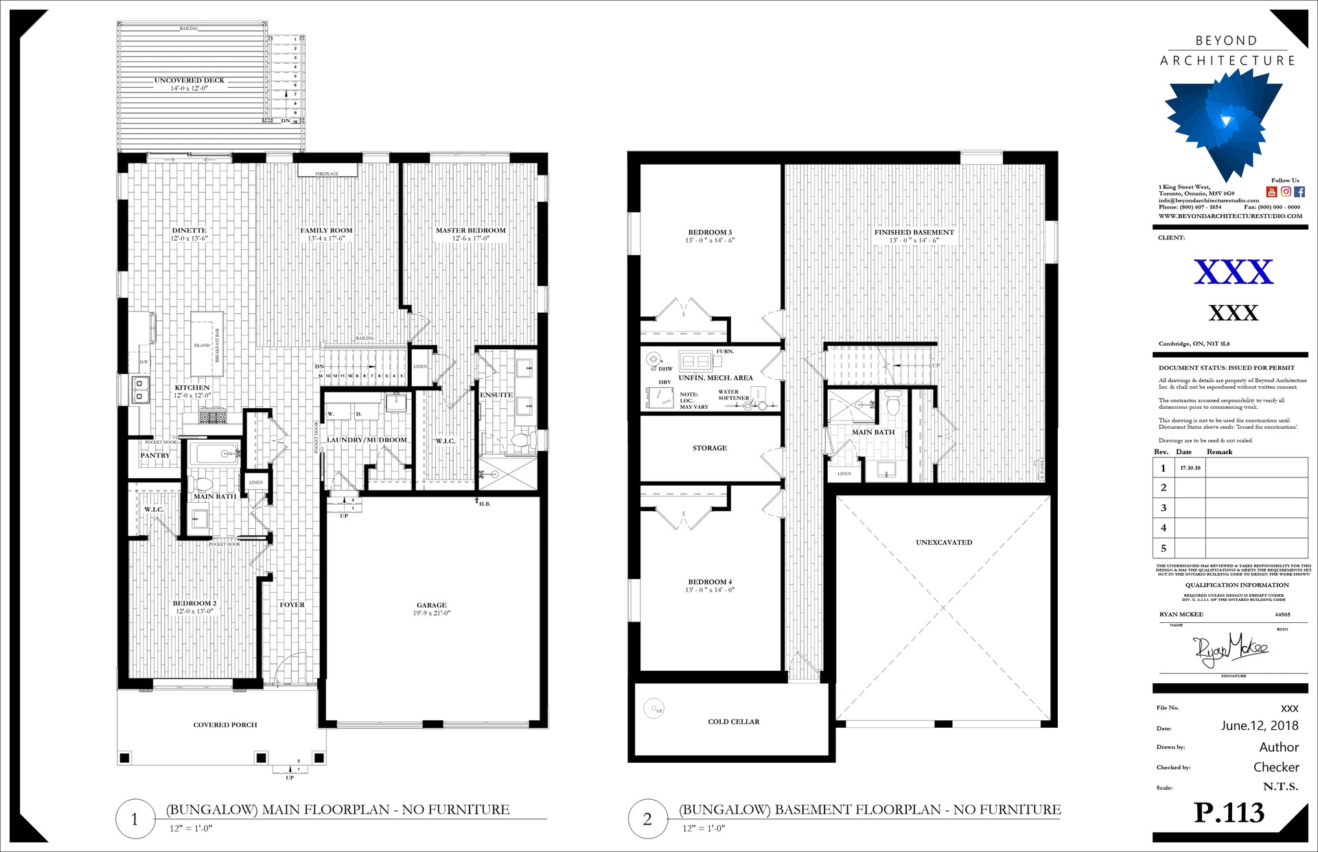 Beyond Architecture Revit Template Bungalow