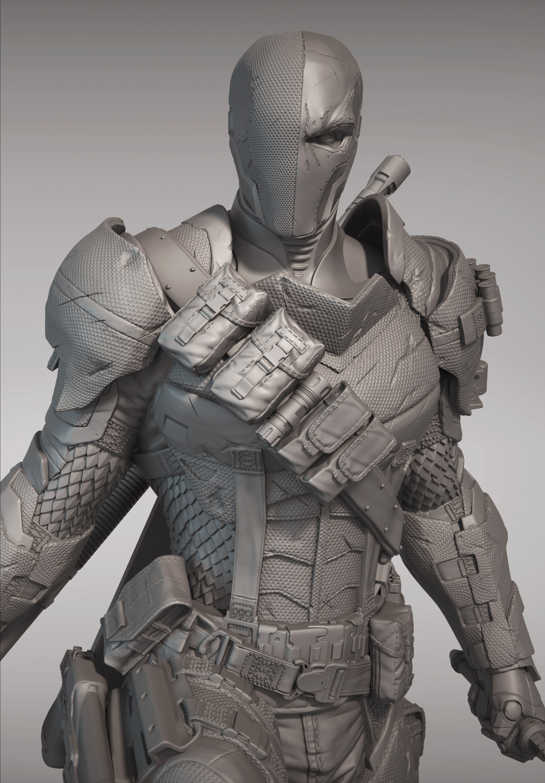 Arkham Knight - Deathstroke (Clay Render)