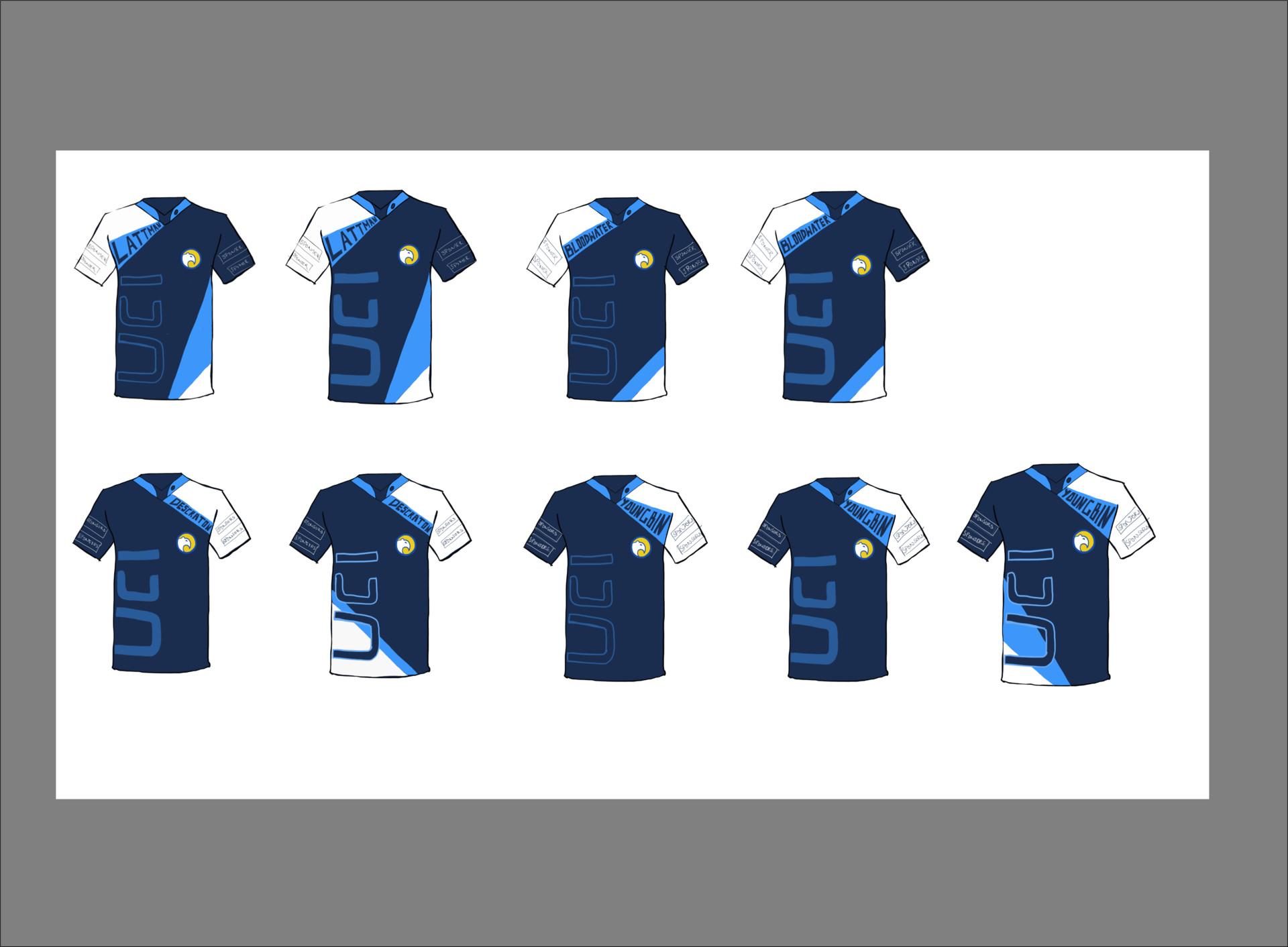 Dishanth Shankar Reddy - UCI Esports Jersey Design Ideas 2018