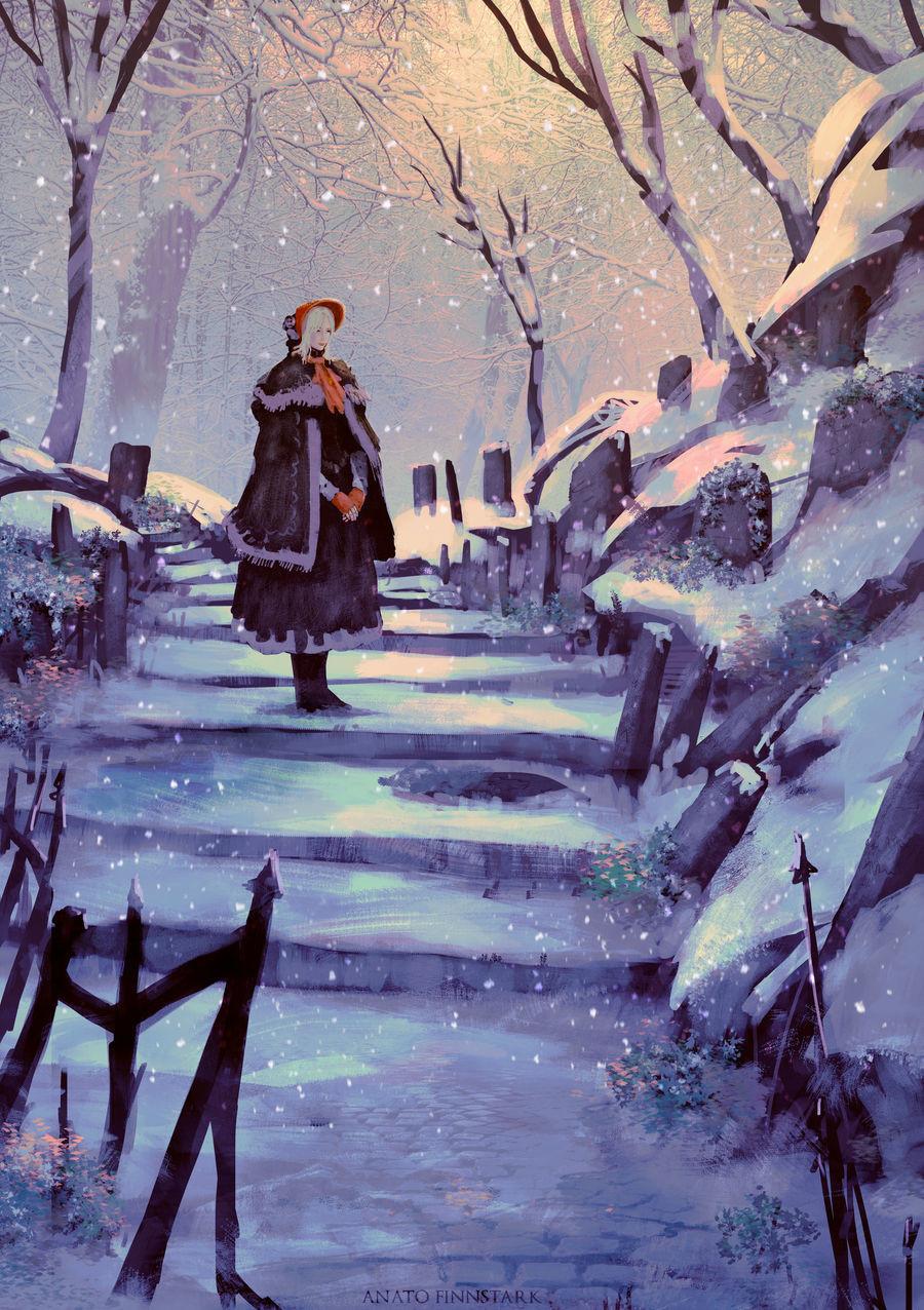Anato finnstark are you cold oh good hunter bloodborne by anatofinnstark dcu5r1h fullview