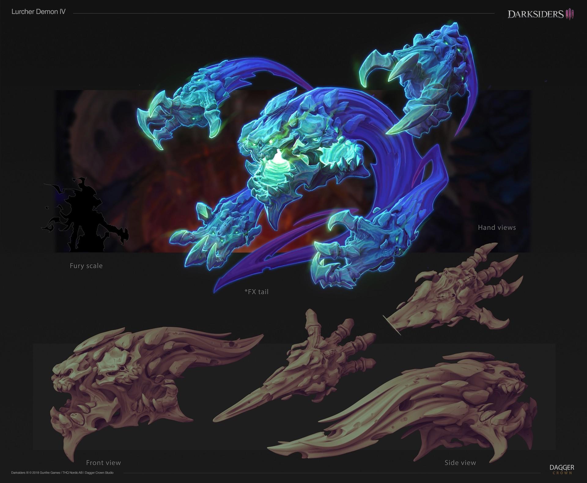 ArtStation - Darksiders 3 | Lurcher Demon , DAGGER CROWN STUDIO