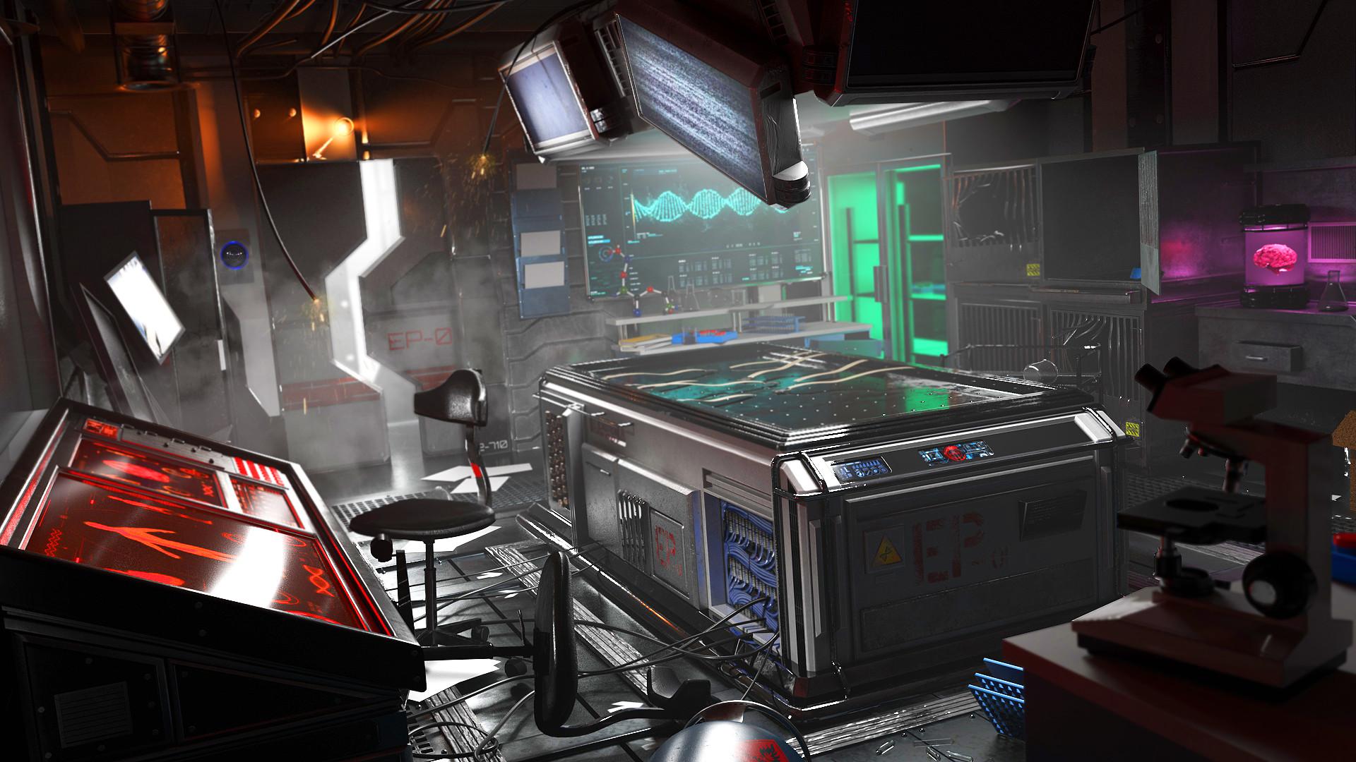 ArtStation - Futuristic Laboratory, Victor Ochoa Diz