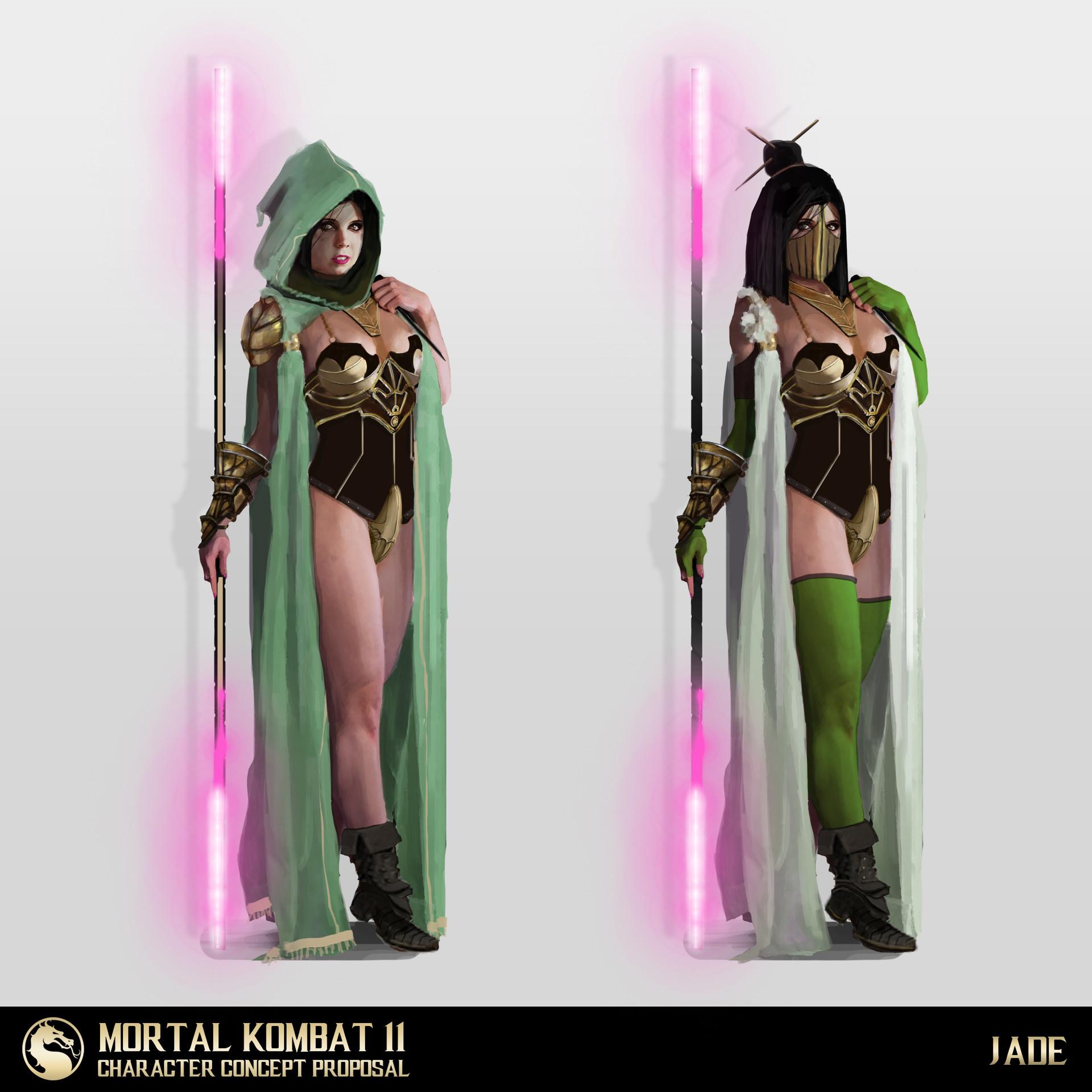 Mk 11 Jade Fujin Quan Chi Concept Art Proposal Test Your Might