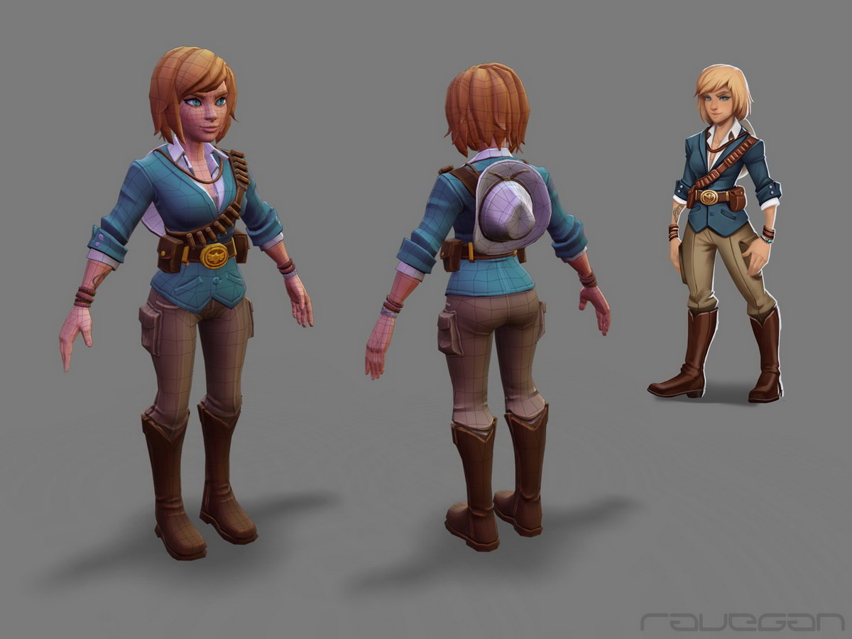 Ravegan games how cowgirl lowpoly small