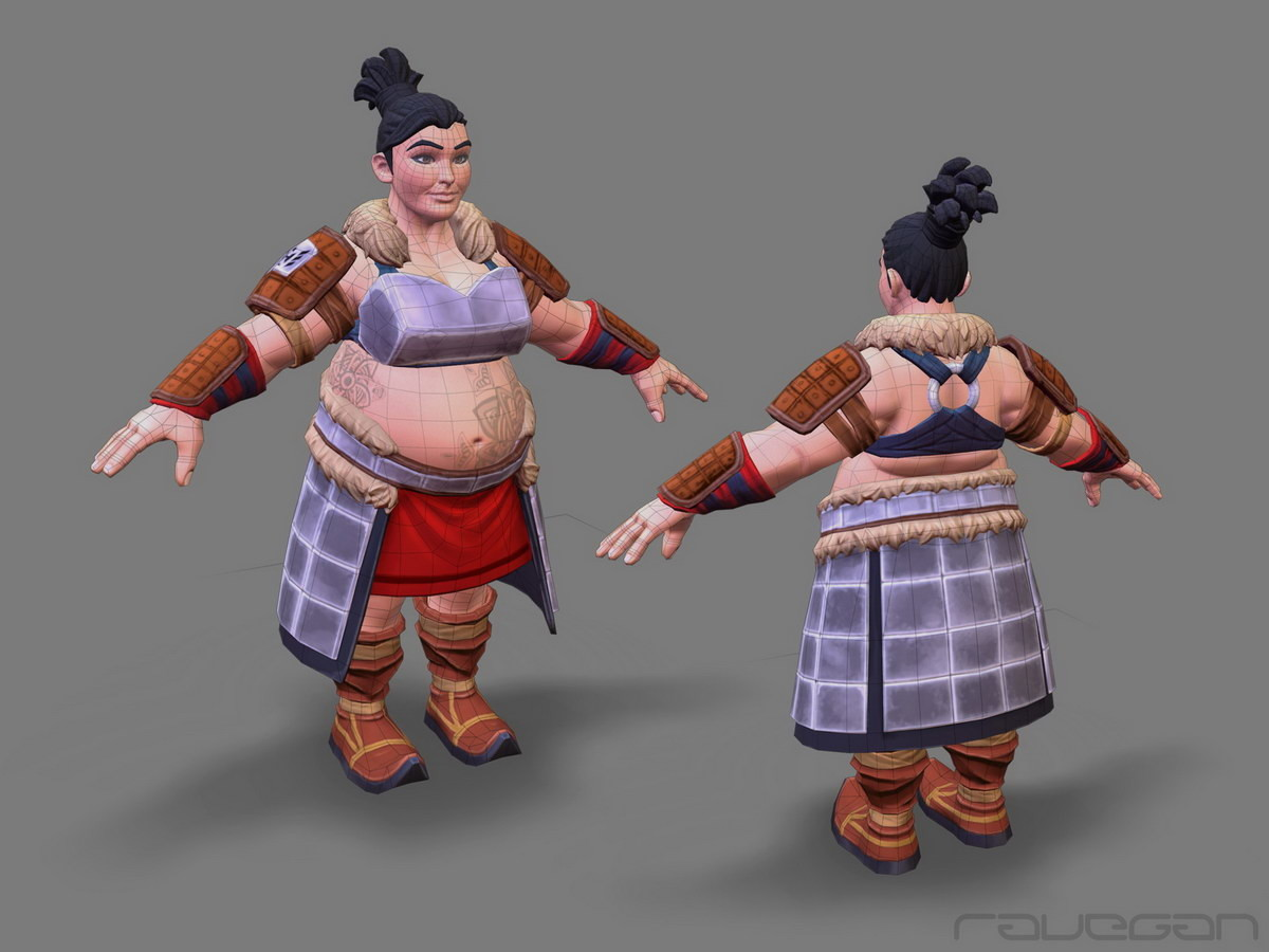 Ravegan games how mongol lowpoly small