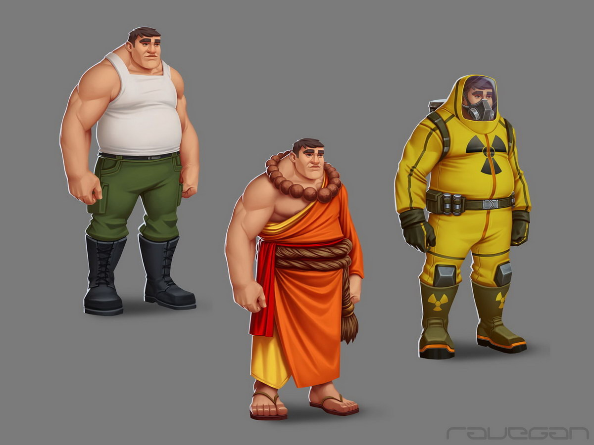 Ravegan games how monk concepts small