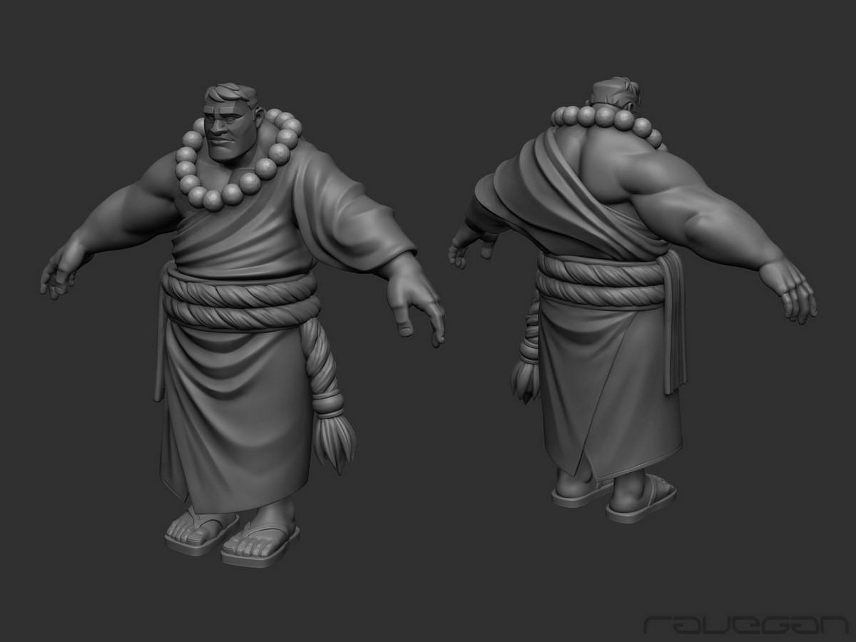Ravegan games how monk highpoly small