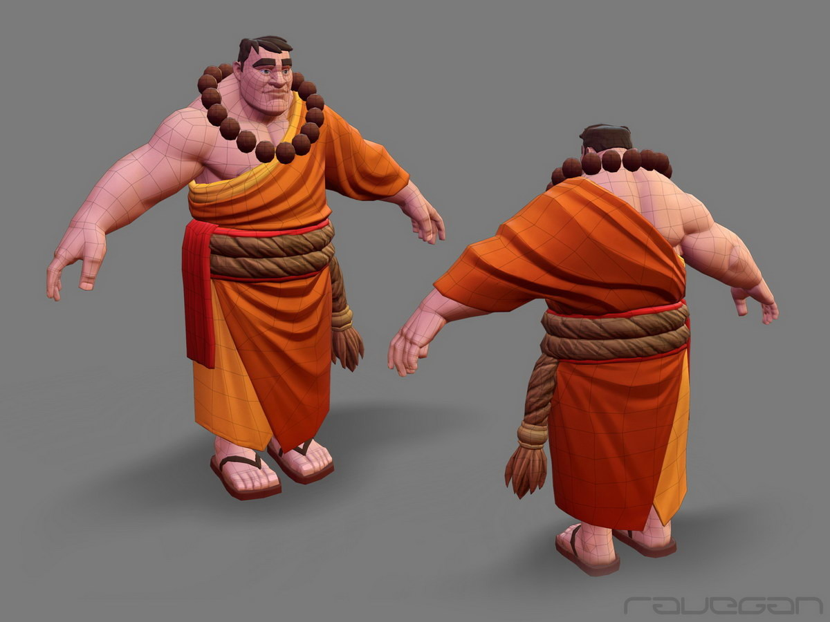 Ravegan games how monk lowpoly small