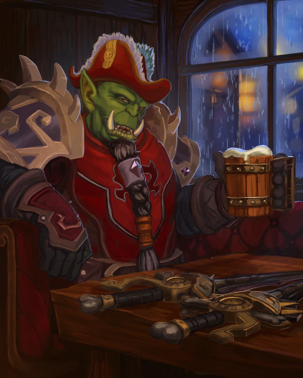 Artstation Orc Rogue Ewan Rose