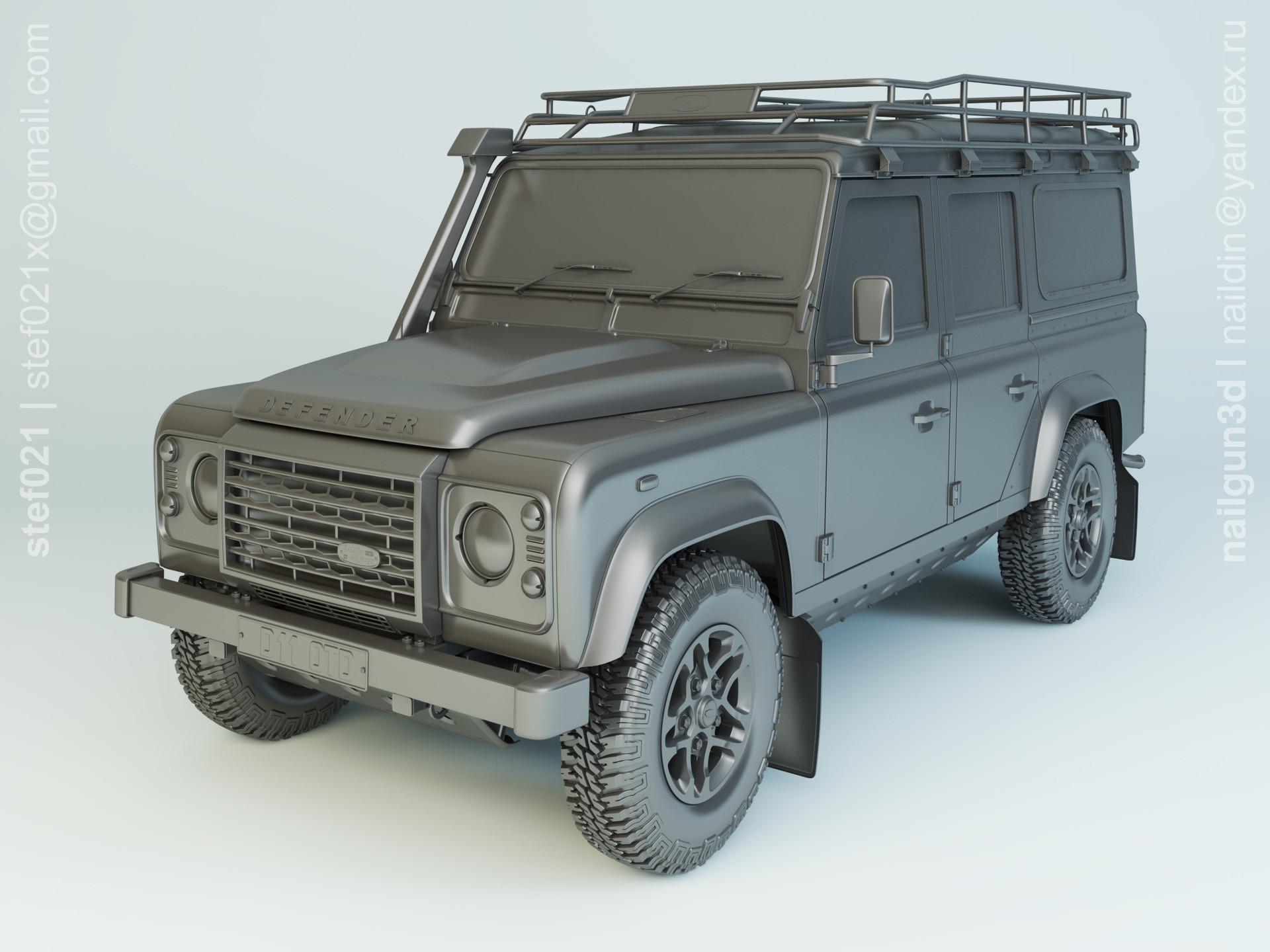 Nail khusnutdinov a0014 010 land rover defender 110 2015 modelling 0