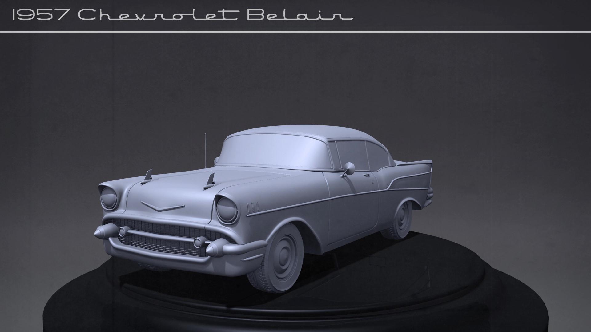 Artstation 1957 Chevy Bel Air Tyler Bolyard Hard Surface Model