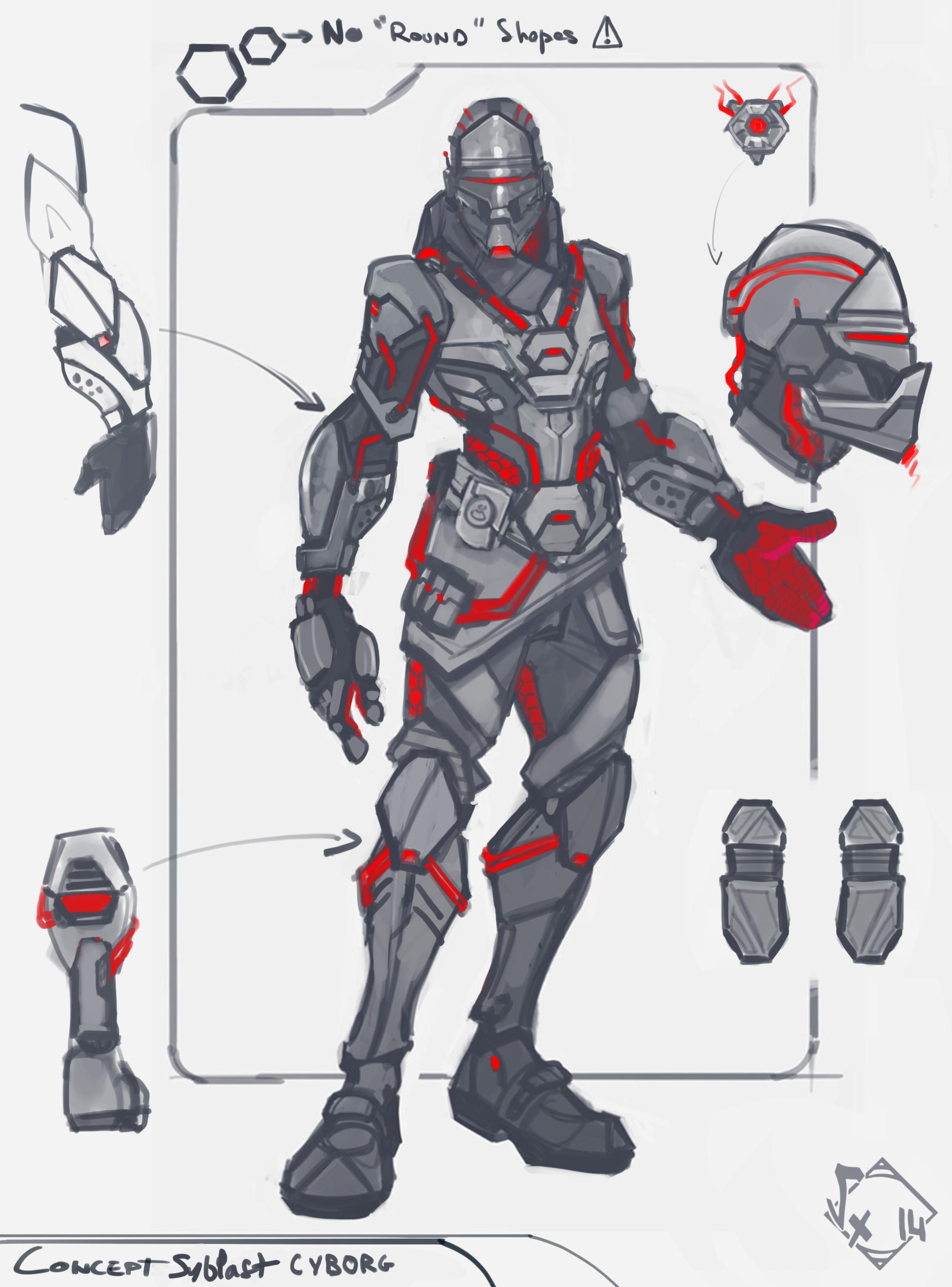 Syblast Cyborg Skin - ConceptArt